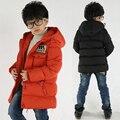 Niños chaqueta de invierno ropa Masculina niño wadded prendas de vestir exteriores del bebé engrosamiento chaqueta de algodón acolchado niños niños parka