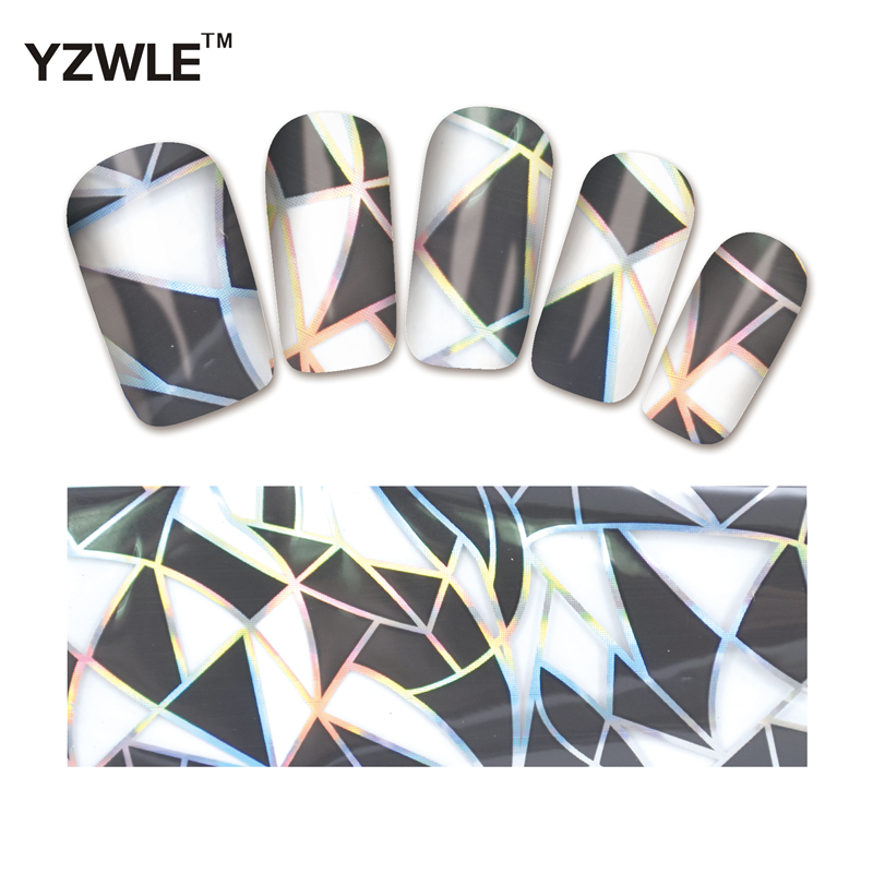 YZWLE 1 Pack(10Pcs) DIY Nail Art Transfer Foil Decal Beauty Craft Decorations Accessories For Manicure Salon #XKT-N12 hot wheels sport car toy plastic track vehicles kid toys hot sale hotwheels cars track x2586 multifunctional classic boy toy car