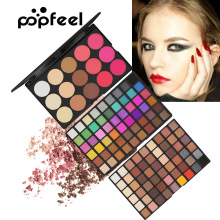 Popfeel 123 Color Eye Shadow Pearlescent Matt Blush Foundation Makeup Pan
