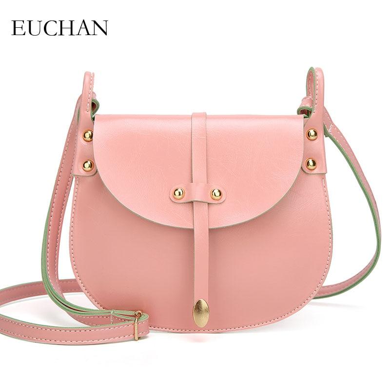 Aliexpress.com   Buy Euchan Concise Saddle Bag for Women 2018 Vintage Female  Messenger Bag PU Leather Ladies Crossbody Bag Summer Solid Women Handbag  from ... 8d3dd9716175
