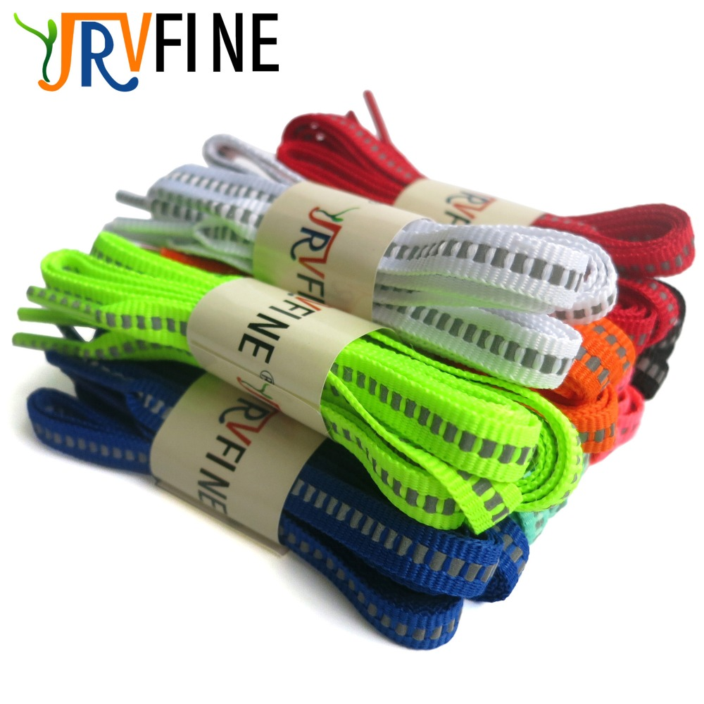 YJRVFINE 10 Pair Soft 3M Reflective Security Safety Shoe Laces Highlight Shoelaces Flat Shoe Lace Width 0.8CM /Thickness 0.2CM