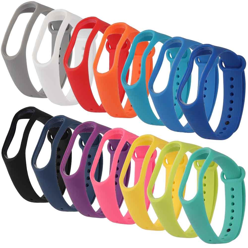 Single Color Mi Band 3 Strap Replacement Silicone Wriststrap Accessories Anti-Lost Sport S