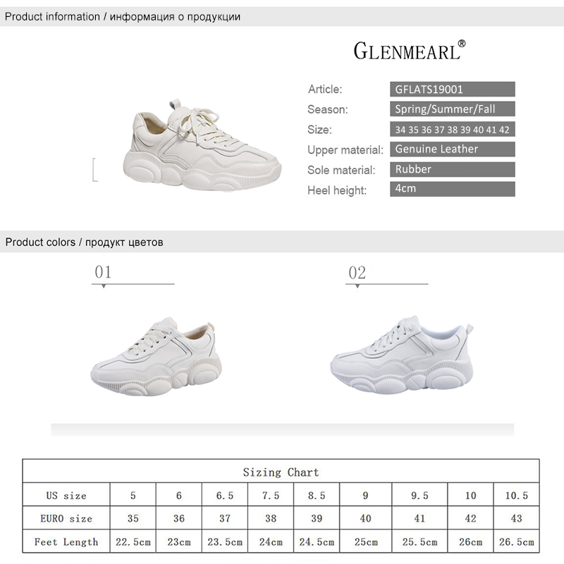 Genuine Leather Women Sneakers White Shoes Platform Bear Woman Casual Shoes Flats Brand Spring Autumn Female Running Shoes Warm 6