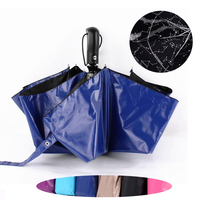 Personality Starry Sky Sunny Rainy Man Folding Umbrella Full Automatic Windproof Male Parasol Women Business Umbrellas Paraguas