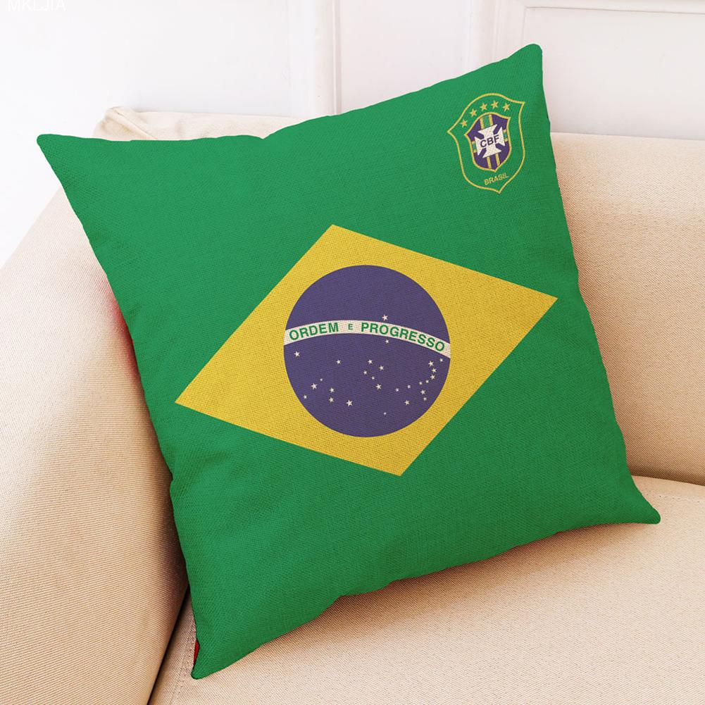 HOT NEW Pillow Case 45*45cm Soccer Ball Game Home Decor Cushion Cover Carnival Football Games Support Pillow Covers