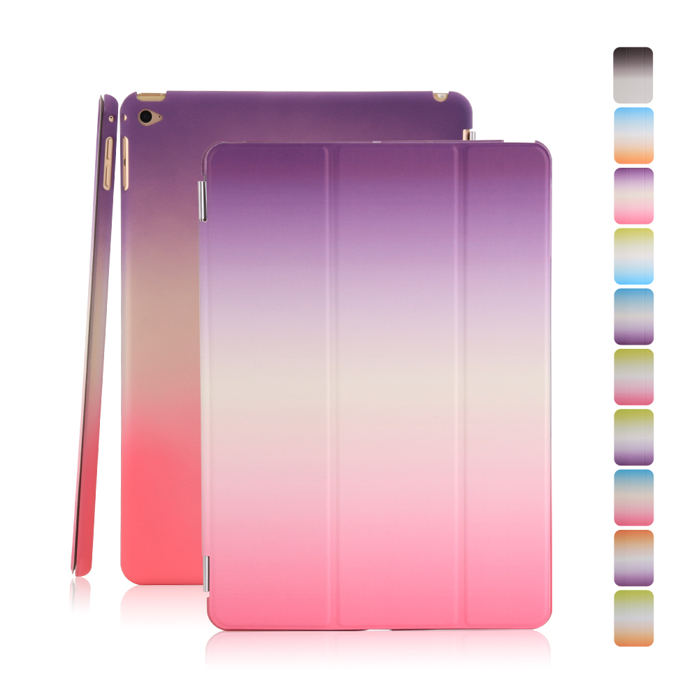 Flip Stand Wake Sleep Smart Case Skin PC Back Cover for iPad