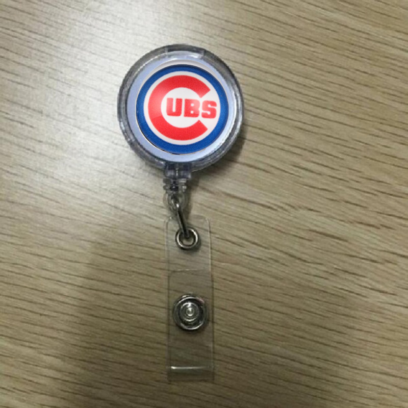 ᗛ10 unids Chicago Cubs stretchable titular ID badge titular llavero ...