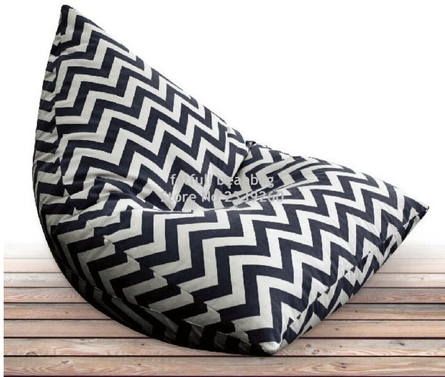 US $48.0 |Cover only No Filler Black chevron outdoor bean bag sofa chair  ,home furnitures, zigzag seat beds-in Living Room Sets from Furniture on ...