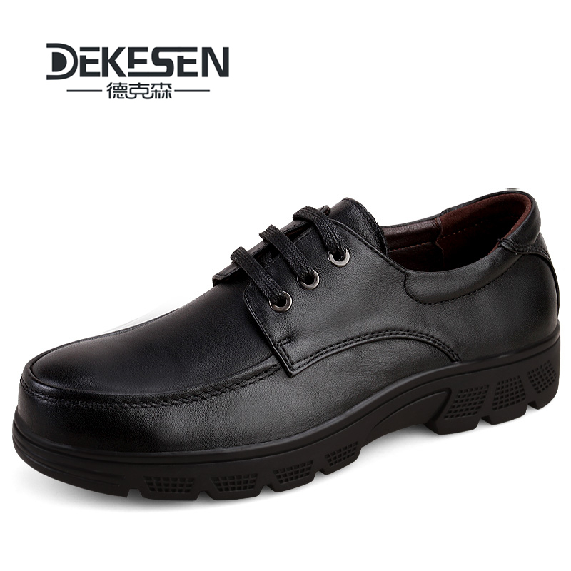 DEKESEN Men Genuine Leather Casual Shoes Brand Men Winter ...