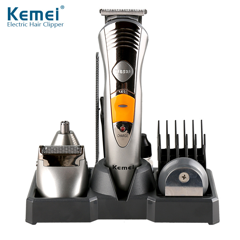 Kemei Rechargeable Electric Hair Trimmer Shaver Nose Beard Trimmer For Men Waterproof Family Haircut Tool KM-580A kemei men s electric shaver cordless rechargeable reciprocating razor wet and dry use beard trimmer men s face care tool km 2016
