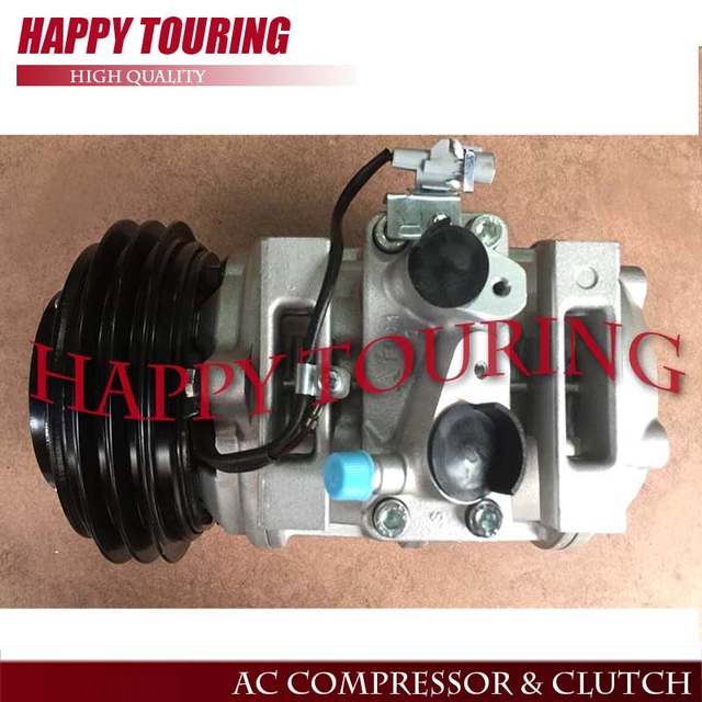 Auto Air Conditioning Compressor 10p30c 12v 24v For Toyota Coaster Mini Bus 24 Volt Pulley
