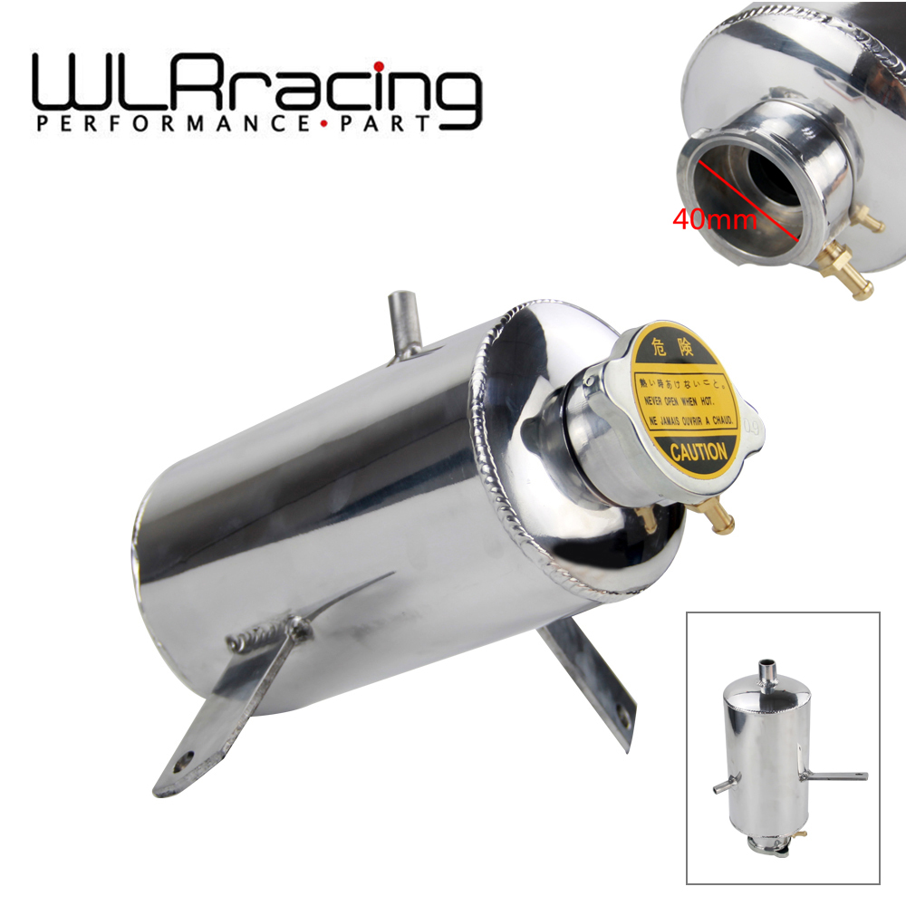 WLR RACING - Universal Alloy Polished water tank & oil catch can 1.5L Round Water Catch Can Fuel Tank WLR-TK09
