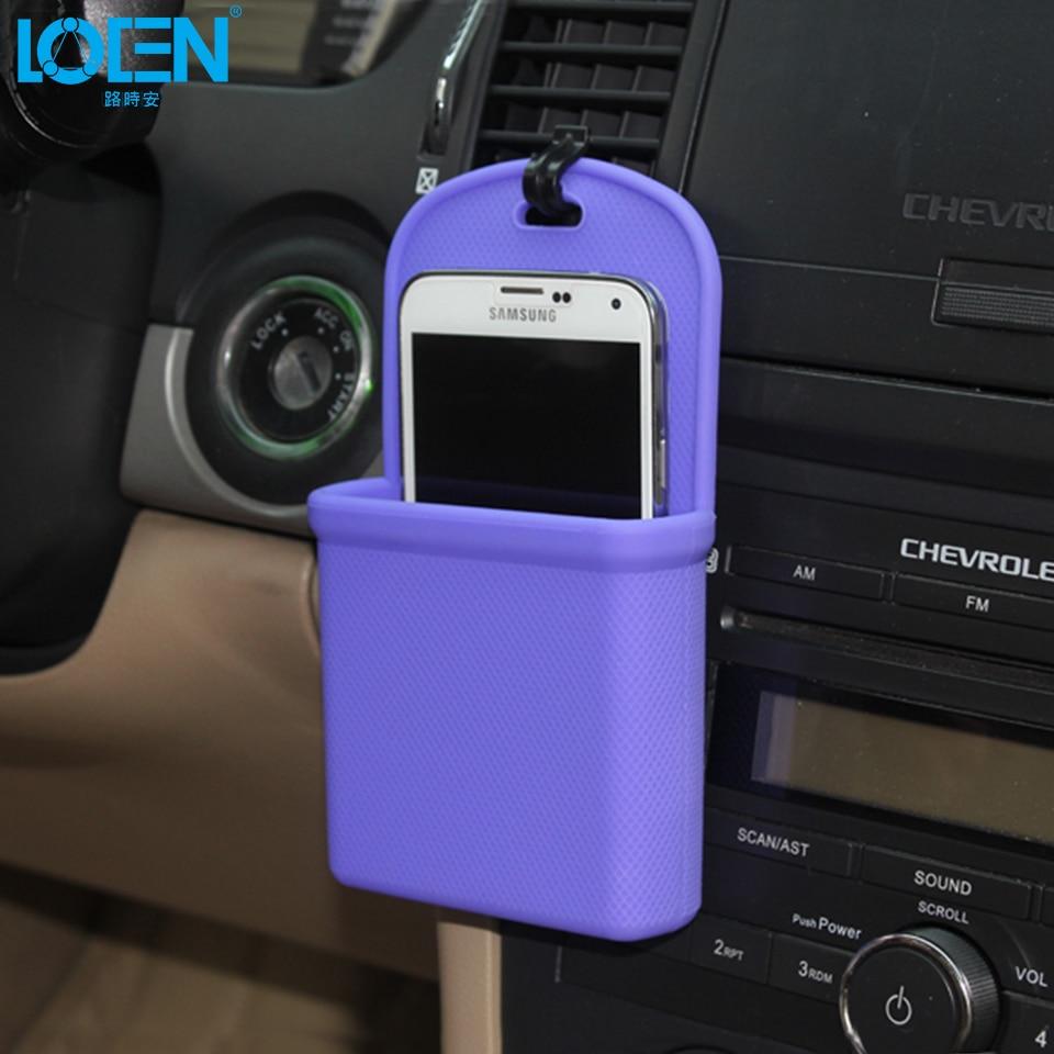 Loen 1 pc sílica gel à prova dwaterproof água tomada de ar do carro pendurado saco telefone moeda carteira bolsa portátil caixa armazenamento organizador bolsa