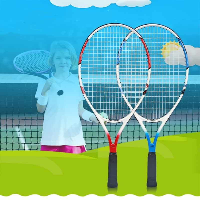 Tennis Racket 7-12 Years Old Kids Raquets Carbon Fiber High-quality For Children Entertainment With Bag Ball String Sweatband