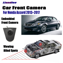 ФОТО liandlee car front view camera small logo embedded for honda accord 2013-2017 2015 / 4.3