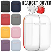 Headset Protective Cover for Apple AirPods Wireless Bluetooth Earphone Shockproof Scratchproof Storage Box Silicone C