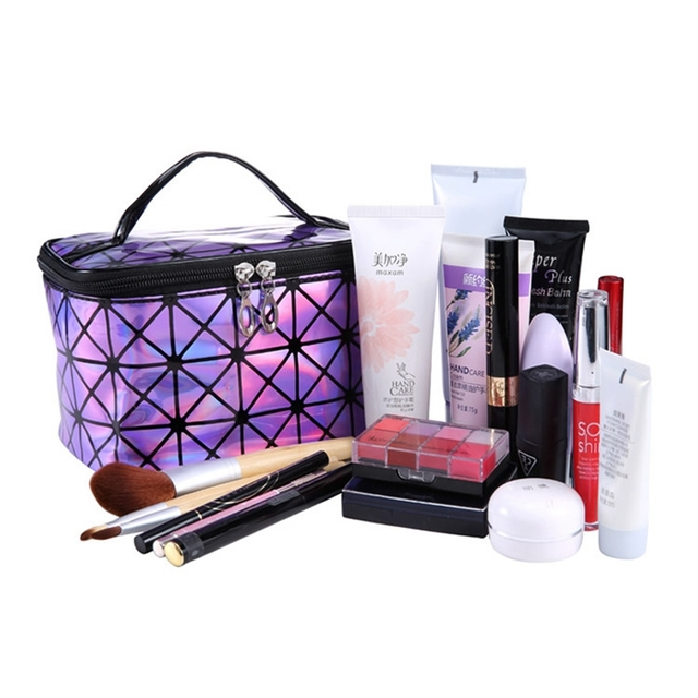 Cosmetic PU Leather Make Up Toiletry Kit Bag 2