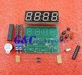 Relógio Digital AT89C2051 4 Bits Eletrônico Suíte Produção Eletrônica DIY Kit