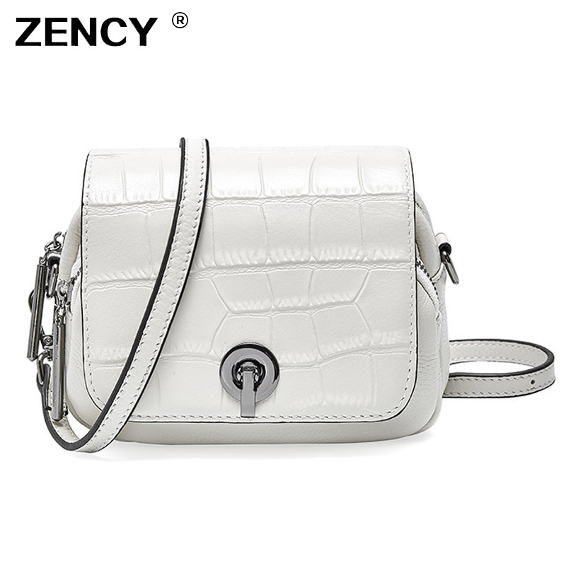ZENCY Small Summer Style 100 Genuine Cow Leather Women s Shoulder Bags Female Small Handbag Ladies