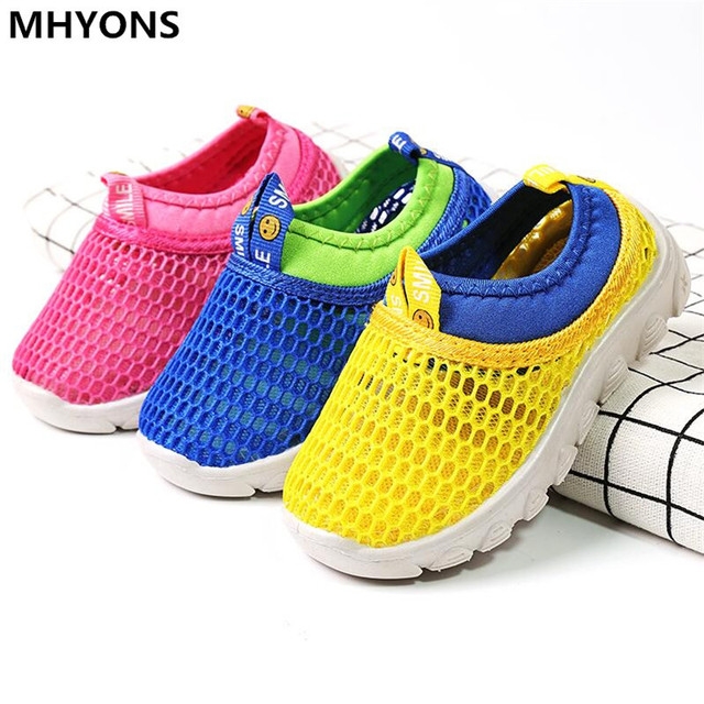 MHYONS 2019 Summer Fashion Kids Shoes Cut-outs Air Mesh Breathable Shoes For Boys Girls Children Sneakers Baby Boy Girl Sandals