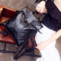 Softback Genuine Leather School Bags for Teenage Girls Travel Small Backpack Bag Pack Soft Handle Black