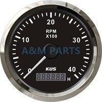 "KUS Tachometer מד ימי סירת רכב משאית LCD Hourmeter סל""ד Tacho מד 4000RPM-במדי סל""ד מתוך רכבים ואופנועים באתר"