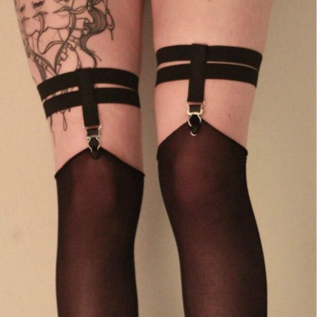 Năm 2019 thời trang pastel gót nữ garterbelt Sock Dây suspender Đai Cổ Garters chân mối ràng buộc Clip bán lẻ Suspende