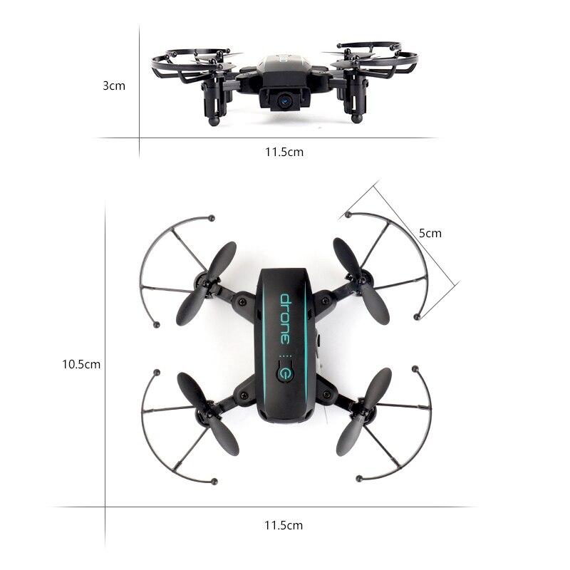 Wifi FPV mignon Selfie Mini Drone et caméra hélicoptère hauteur garder radiocommande enfants jouet Drone quadrirotor pliant Drone - 6