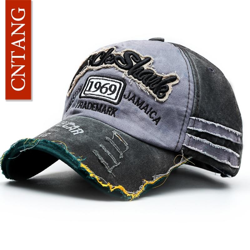 CNTANG verano moda Vintage gorra de béisbol Casual algodón lavado ... 693f08092f1