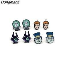 DMLSKY Maleficent Queen Magic Mirror Cartoons figure earrings for women kids Gifts Girls stud Earring funny jewelry M2454