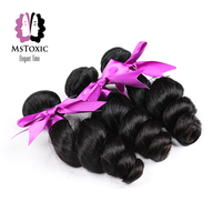 Mstoxic Hair Brazilian Loose Wave Bundles Human Hair Bundles Non Remy Hair Weave Extensions 12 28 inch Doudle Weft Free Shipping