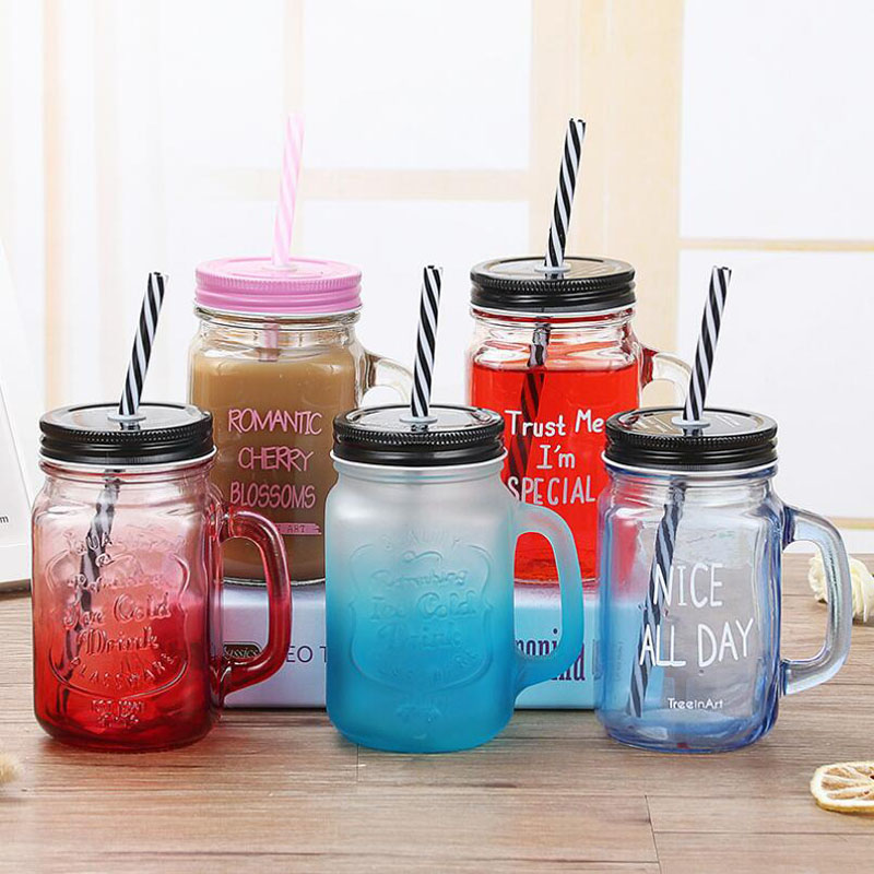 Cookware Dining Bar Mason Jar Mugs Glass Juice Cups Drink Bar Wedding Anniversary Home Decor Gift Home Furniture Diy Lugecook Com Br