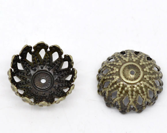 Rational Copper Beads Caps Flower Antique Bronze 2/8 4/8 fits 12mm Beads 8 Pcs X 6mm Pattern Pattern 12mm