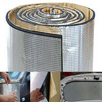 7mm 1*1.4m 55.1*39.4 Self Adhesive Car Road Noise Dampener Sound Deadener & Heat Barrier, foam rubber with Aluminum sheet