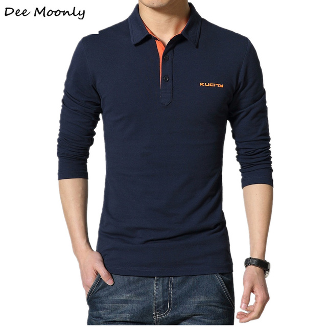 Para hombre de La Moda 100% algodón Camisetas Top Con Cuello En V de diseño camiseta de los hombres de manga larga camiseta Slim Fit Ocio Estilo Nueva llegada