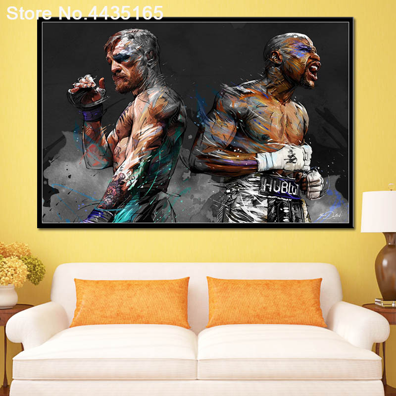 Conor McGregor 30x20 Inch Canvas UFC Framed Picture Print Wall Art