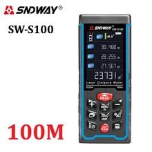 Sndway цифровой лазерный дальномер Цвет дисплей rechargeabel 100M-70M-50M лазерный дальномер дальнометр Бесплатная доставка