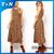 Entrega rápida 2014 Hot Sale da moda de alta qualidade de impressão Bohemian verão estilo praia elegante mulheres Maxi Leopard vestido longo