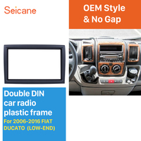 Seicane 2DIN 173*98mm Car Stereo Fascia Frame Indash Trim Kit Refitting Dashboard For 2006 2016 FIAT DUCATO LOW END