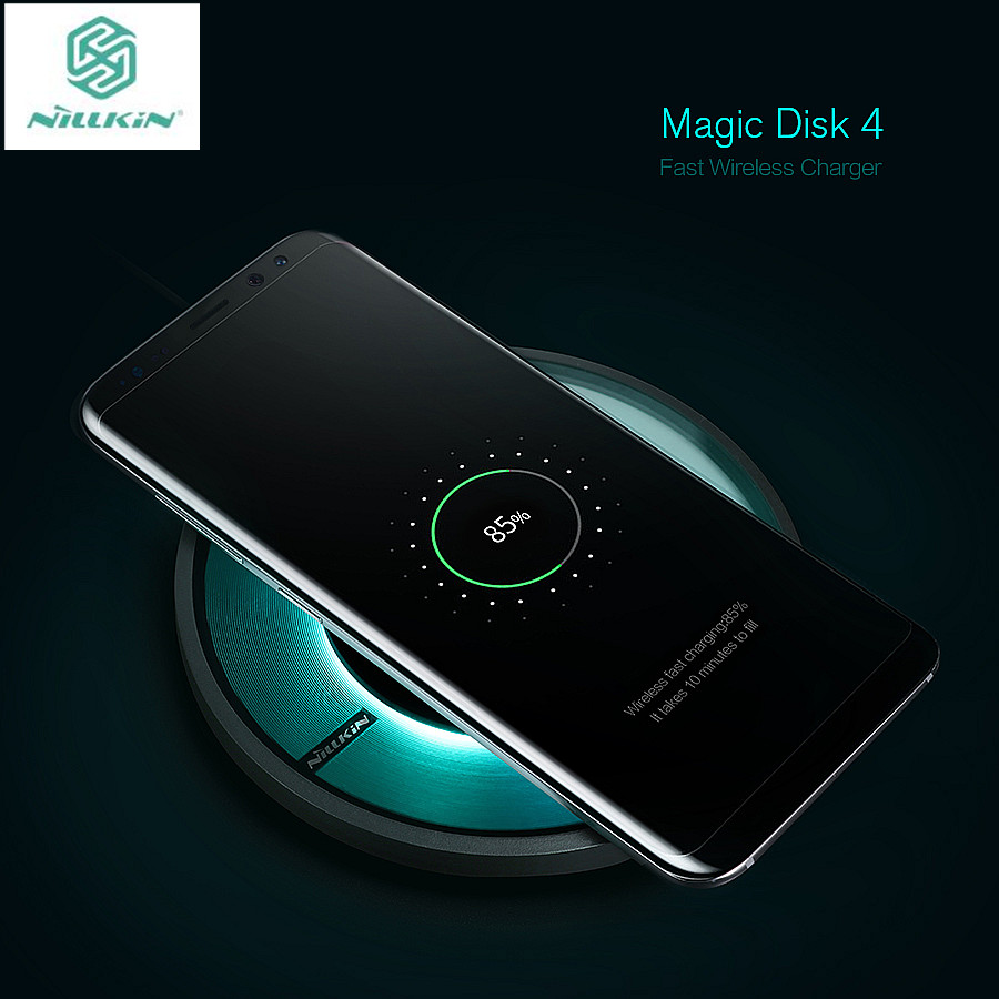 Nillkin Magic Disk 4 fast charger for iPhone X 8 Plus Qi Fast Wireless Charging Pad for Samsung S7 Edge/Note 8 wireless charge