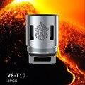 3 шт./лот Оригинал Smok V8-T10 Катушки 0.12ohm Дека/Удесятеренный Катушки V8 T10 для Электронных Сигарет Smok TFV8 Катушки Голову SMOK TFV8 Танк