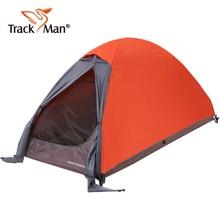 חיצוני אדם אחד קמפינג אוהל שכבה כפולה אלומיניום מוט טיולים ניידים נסיעות רכיבה על חוף דיג אטים לגשם אוהלים