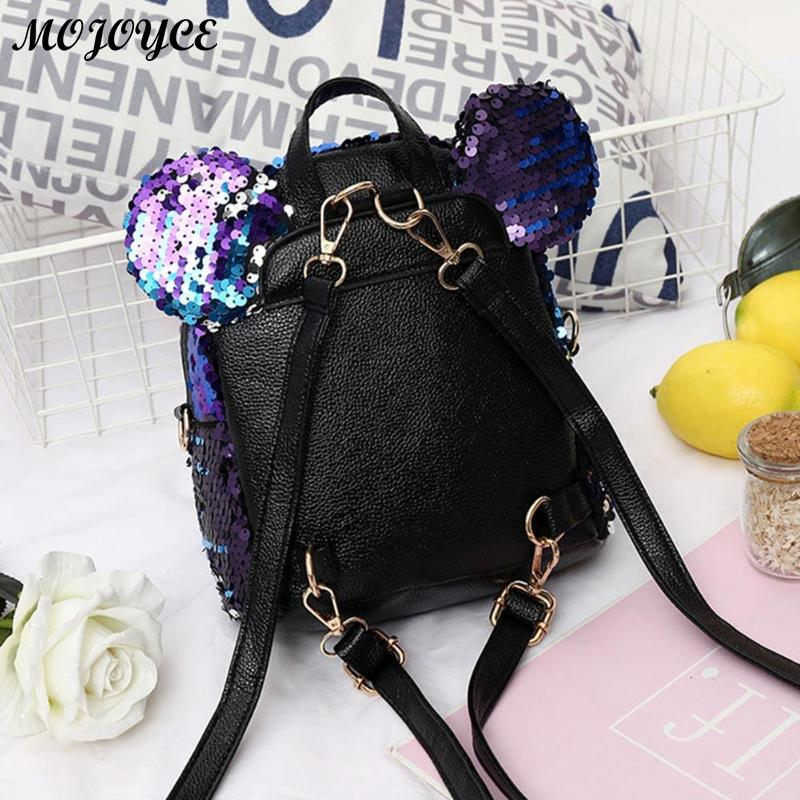 Shining Women Sequins Backpacks Teenage Girls Travel Large Capacity Bags Portable Party Mini School Bags Shoulder Bag For Lady #5