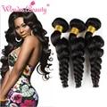 Queen beleza tecer co. ltd pacotes de onda saltitante cabelo humano brasileiro do cabelo virgem onda solta 3 pcs 8 ''-30'' cabelo brasileiro mink