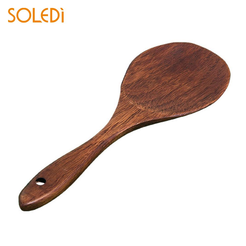 Vernuftig Soledi Rijst Scoop Dining Houten Saft Kookgerei Maaltijd Spatel Keukengerei Restaurant Keuken Tool Bar Gereedschap Schop Kantine Mooie Glans