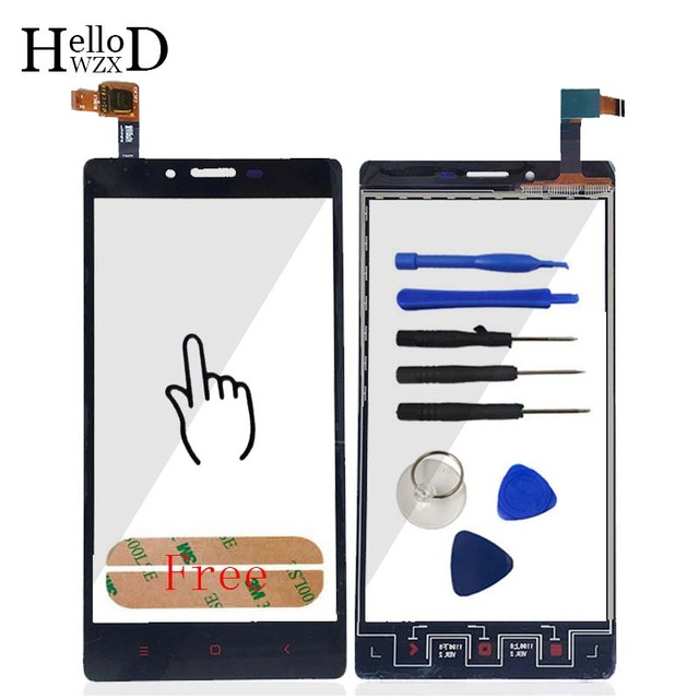 A+++ Quality Front High Touch Screen For Xiaomi Hongmi Redmi Note 2 Capacitive Touch Glass Digitizer Panle Lens Sensor Adhesive