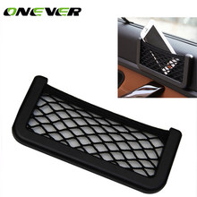 Onever Car Styling Brand 1pcs Car Storage Net Automotive Pocket Organizer Bag For Mobile Phone Holder 20X8CM Car Accessories(China)