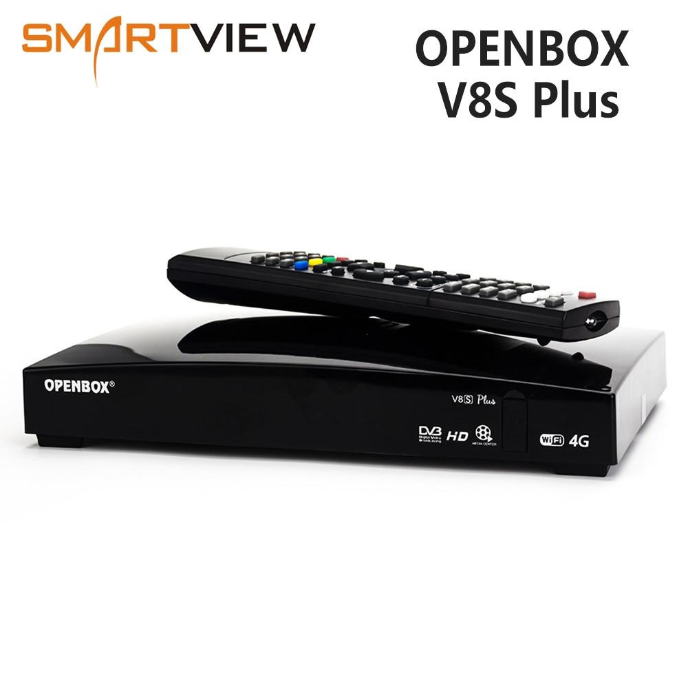 Récepteur d'origine Openbox V8S Plus DVB-S2 récepteur Satellite numérique Support Xtream Youtube Biss clé 2x USB Wifi 3G modem