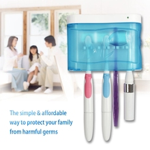 SEAGO UV  light Toothbrush Automatic Sterilizer Wall-Mountable Kill Germ & Bacteria Health Care Oral Hygiene Family pack SG-103