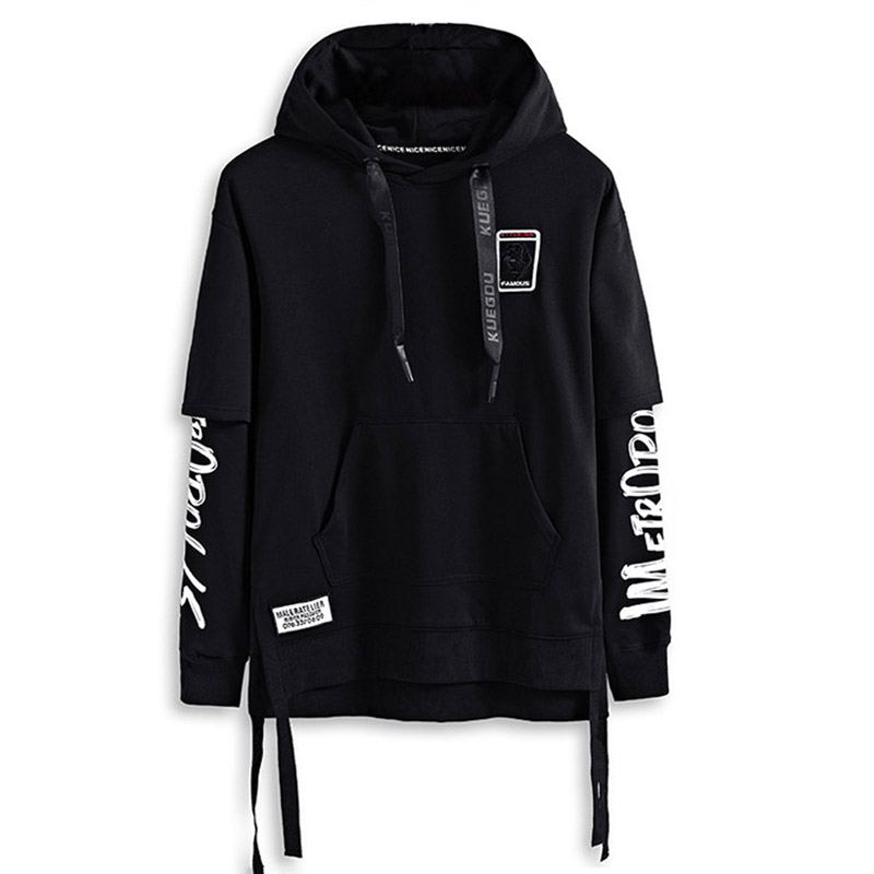 2019 summer style hip hop men sweatshirts streetwear hoodies long sleeve pullover outwear ABZ364